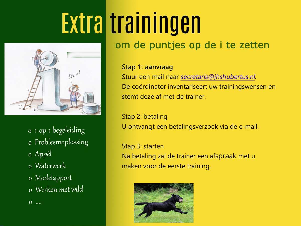 Extra trainingen